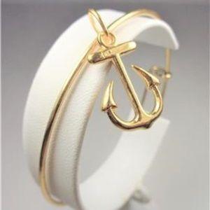 Jewelry - NAUTICAL GOLD TONE SHIP ANCHOR SEA LIFE BRACELET
